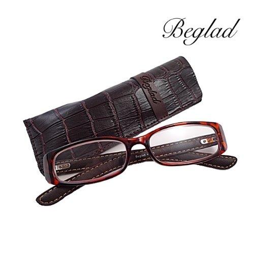 BEGLAD(《비구랏도》)시니어 글래스 안경 돋보기 세련된 케이스 첨부  BGE1006DBR 가죽 temple가 멋쟁이의 결정적 수단