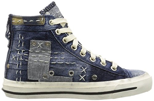 Diesel Exposure IV W Denim Multi Damen Hi Canvas Trainer Stiefel