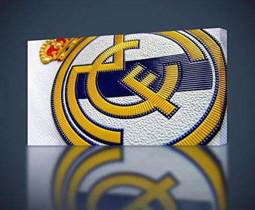 Real Madrid Logo Football CANVAS PRINT Wall Decor Giclee Art Poster CA940, Huge