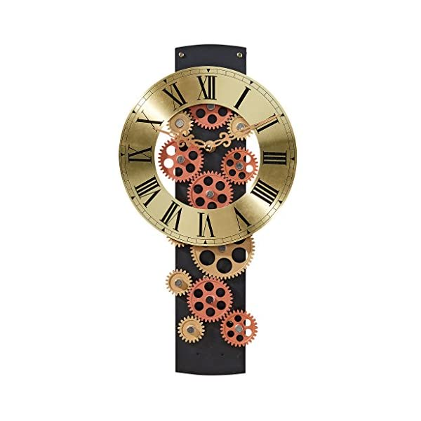 Design Toscano Cogs and Gears Mechanical Wall Clock 3