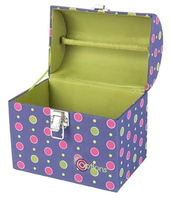 Creative Options 700-713 Hybrid Portable Crafters Treasure Trunk, Purple/Magenta/Green