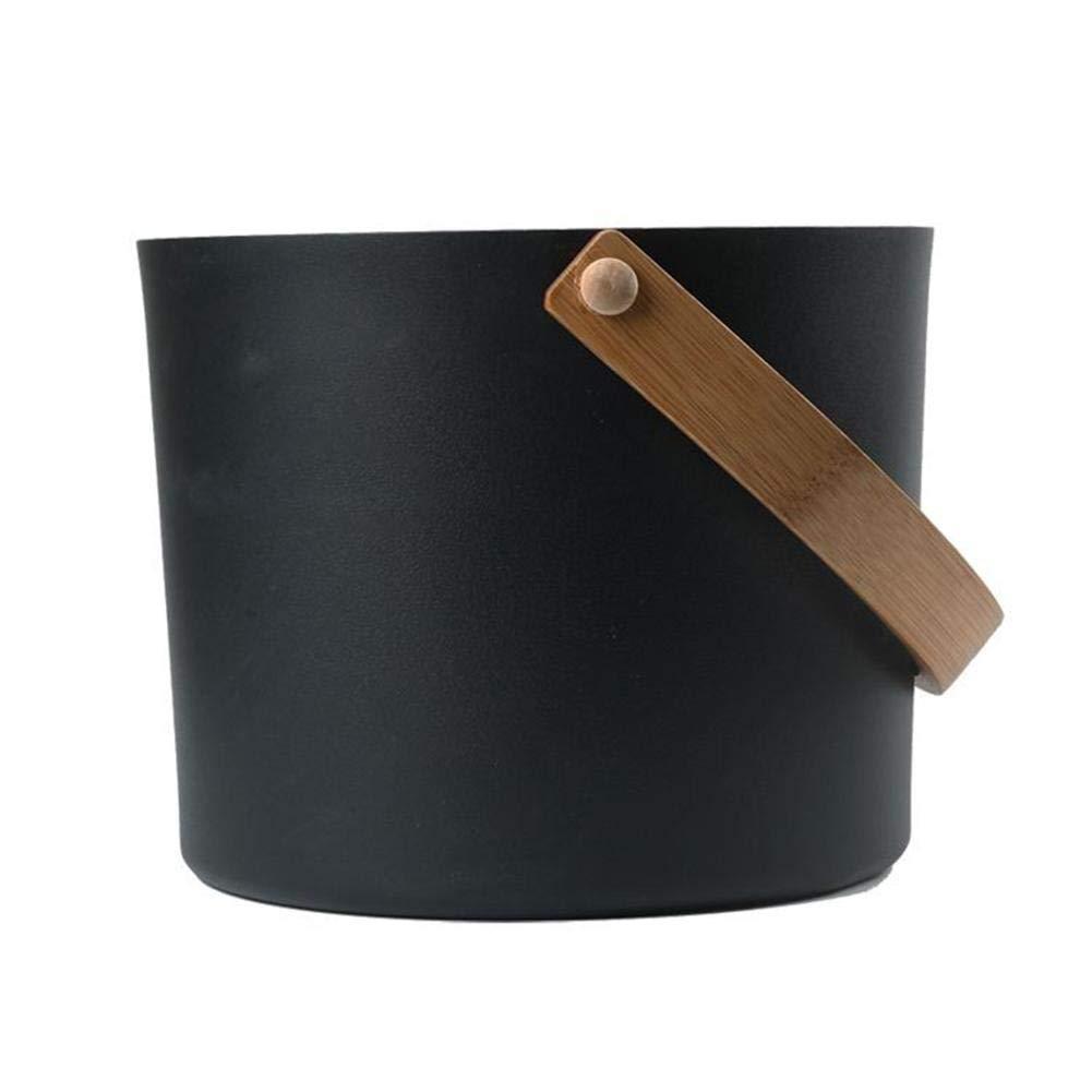 Cuill/ère Longue Assortie Mississ Seau en Aluminium pour Sauna Finlandais De Ensemble De 5 Pi/èces BUC Seau De Beaut/é Sant/é 7L Kit Thermom/ètre//Hygrom/ètre,Ensemble De Seau en Aluminium Sablier