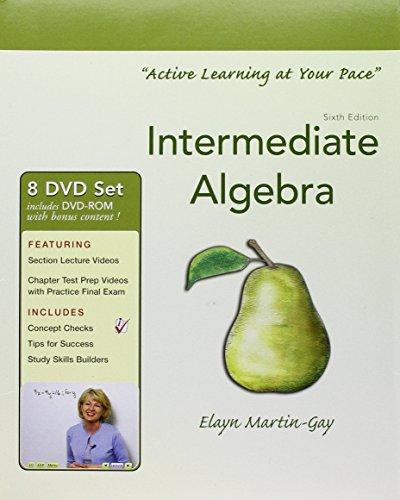 Interactive DVD Lecture Series for Intermediate Algebra