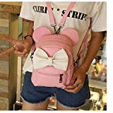Ourhomer  Clearance Sale Wallet Purse New Mickey Backpack Female Mini Bag Women's Backpack (Pink)