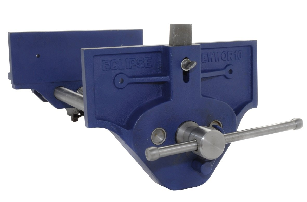 Eclipse Quick Release Woodworking Vise, Gray Cast Iron, 10'' Size