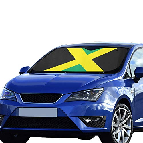 - Car Seat Cover Sun Shade Jamaica Flag 100% Polyester&aluminized Film Cushion Fabric For Maximum Uv And Sun Protection Car Windshield Sunshade Foldable Foldable Keep Your Vehicle Cool 55x30 Inch
