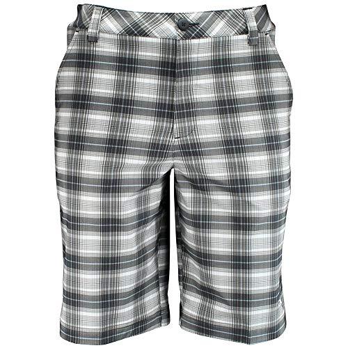 PUMA Golf NA Men's Blur Plaid Tech Shorts, Black/Multi Plaid, -