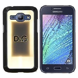 TECHCASE---Cubierta de la caja de protección para la piel dura ** Samsung Galaxy J1 J100 ** --Estilo Ropa texto Diseño de Moda