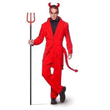 Disfraz Traje Esmoquin Rojo Diablo Talla XL / XXL Halloween ...