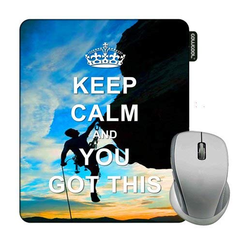 Cowcool Maxim Mouse Pad Keep Calm Your Got This Rock Climbing Mouse Pads for Computers Laptop Gameing ()