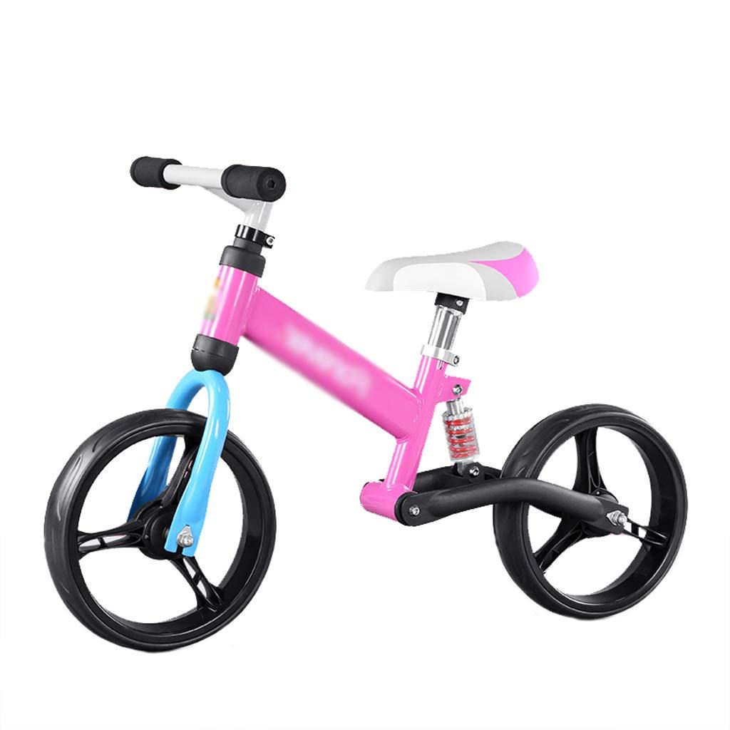 DUWEN - Bilanciamento per Bambini 2-3-6 Anni Senza Pedale Bicicletta a Due Ruote rosa