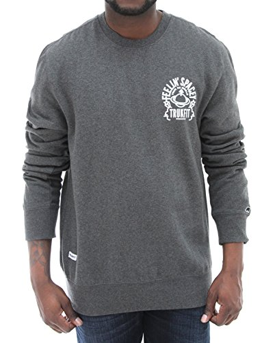 Trukfit Men's Feelin' Spacey Crewneck Sweatshirt-Charcoal-XL (Lil Wayne Trukfit Hoodie)