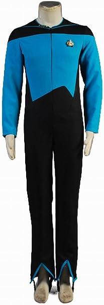 Star Trek Uniforme de ciencia médica Azul Jumpsuit disfraz: Amazon ...