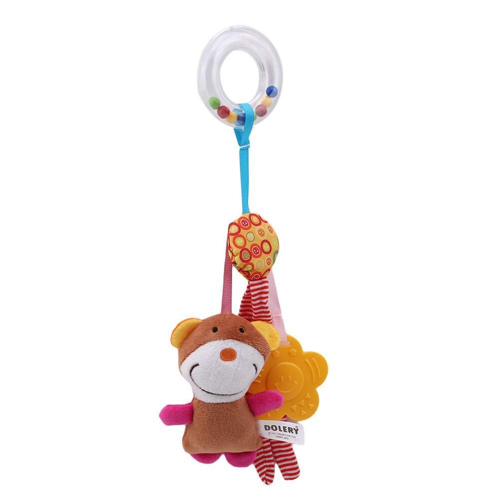 Ogquaton Juguetes de cochecito de beb/é de alta calidad de juguete de felpa colgando mullido adorno beb/é colgando juguete sonando durabilidad