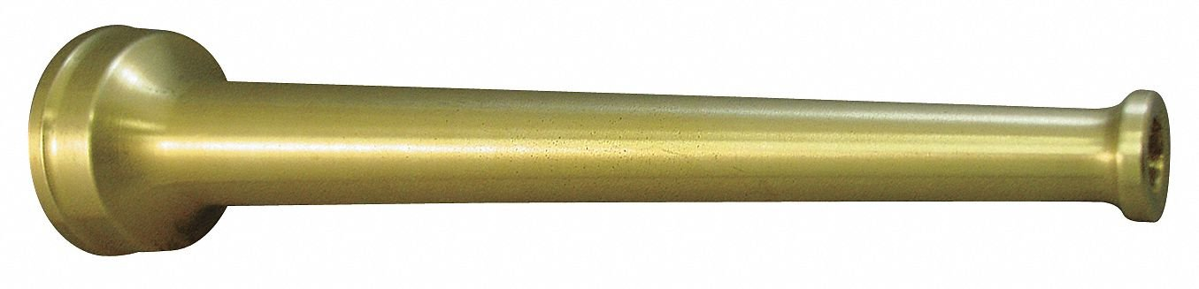 Industrial Fire Hose Nozzle,1 In,Brass