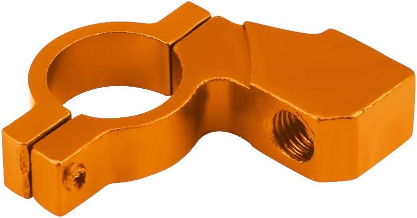 Amarillo 22mm 7//8Montaje del espejo retrovisor de la motocicleta Keenso Universal Espejo retrovisor Manillar 10mm Adaptador Soporte Soporte Abrazadera