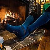 Minus33 Merino Wool Ski and Snowboard Sock Azure