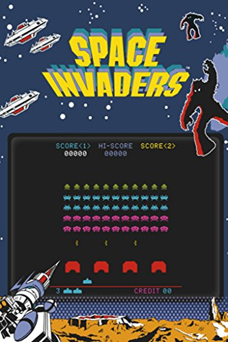 Pyramid America Space Invaders Play Screen Video Game Gaming Poster 24x36 inch