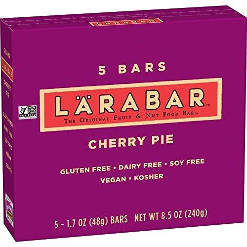 LARABAR Cherry Pie, Fruit & Nut Food Bar, 5 Count – 1.6 Ounce Bars in Retail Packaging: Gluten Free, Non-GMO, Vegan, Dairy Free, Kosher, Soy Free by LÄRABAR