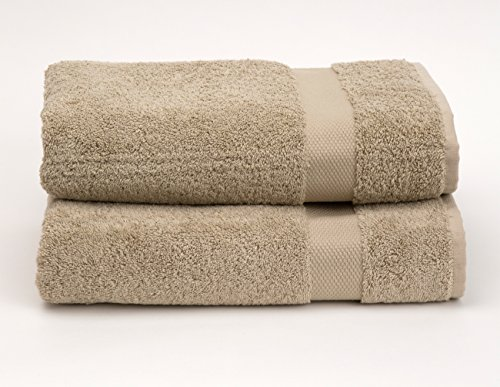 TowelSelections Pearl Collection Luxury Soft Towels - 100% Turkish Cotton, Made in Turkey, Desert Sand, 2 Bath Towels
