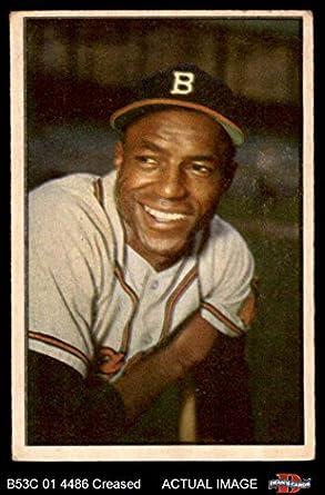 Amazoncom 1953 Bowman 3 Sam Jethroe Bostonmilwaukee Braves
