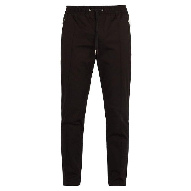 (ドルチェ&ガッバーナ) Dolce & Gabbana メンズ ボトムスパンツ Cotton-blend track-style trousers [並行輸入品] B07FD2W75X 48EU-IT