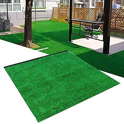 Simulation Lawn, BiuZi 1Pc PE Garden Landscape 10mm Thick Simulation Lawn Artificial Grass Turf Carpet 1m1m10mm(Emerald) : Garden & Outdoor