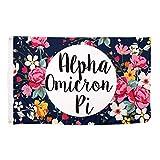 Alpha Omicron Pi Floral Pattern Sorority Flag Banner Greek Sign Decor AOII For Sale
