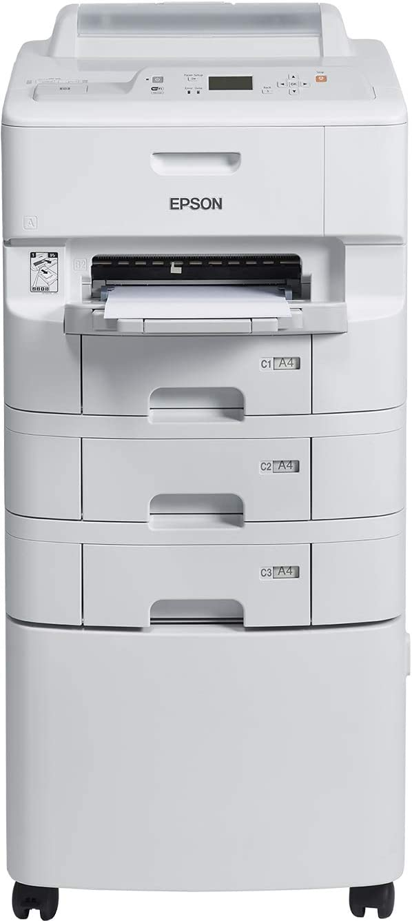 Epson WorkForce Pro WF-6090D2TWC - Impresora de tinta (65000 páginas por mes, 4800 x 1200 DPI, ESC/P-R,PCL 5c,PCL 5e,PCL 6,PDF 1.7,PostScript 3, Negro, Cian, Magenta, Amarillo, Bandeja de papel, 34 ppm): Epson:
