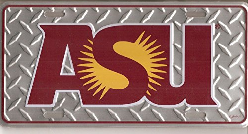 NCAA Arizona State Sun Devils ASU Diamond Plate Car (Arizona State Diamond Plate)