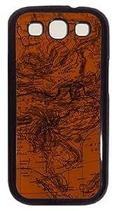 Map 3 Custom Samsung Galaxy S3 I9300 Case Cover Polycarbonate Black