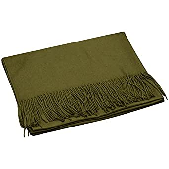 Cckuu Ladies/Women Synthetic Pashmina Cashmere Winter Party Gift Scarve Shawl(Army Green)
