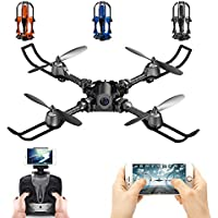 LUCKSTAR i5HW Drone - 2.4G 4CH 6-axis Gyro Foldable RC Quadcopter 0.3MP Camera WIFI FPV Drone Altitude Hold Remote Control Aircraft