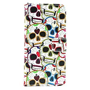 LCJ Lover Skull PU Leather Full Body Case with Card Holder for iPhone 6