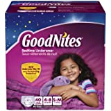 GoodNites Bedtime Pants for Girls, Small/Medium, 40...