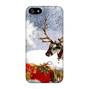 Iphone Case - Tpu Case Protective For Iphone 5/5s- Santa His Reindeer