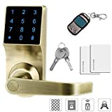 THINK SOGOOD Touchscreen Keyless Password Lever Door Lock, Remote control + Password + Card + Metal key, Perfect for Office & Home
