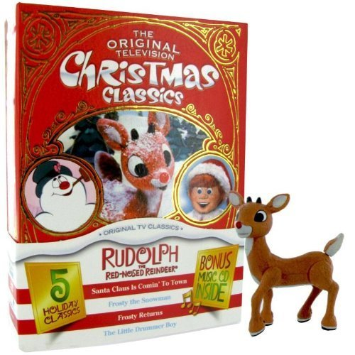 The Original Television Christmas Classics 5 Holiday Classics (With Rudolph Reindeer Toy) (Boxset) by