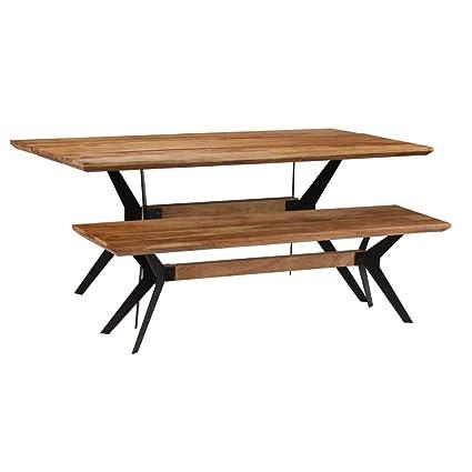 Tidyard Salons de Jardin   Table et Banc à Dîner   Table d ...