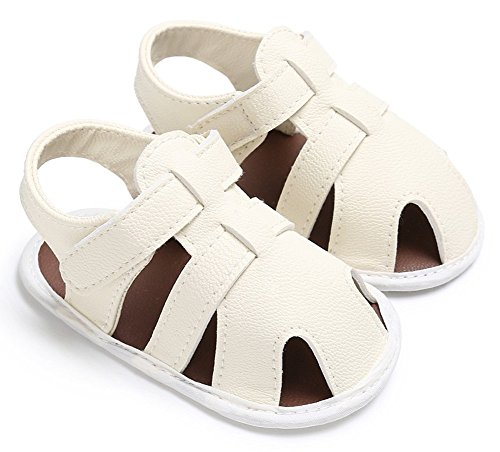 ILVWhips Summer Baby Boy Shoes 0-1 Years Old Sandals Baby Toddler Shoes (12cm(6-12 Months), White) by ILVWhips