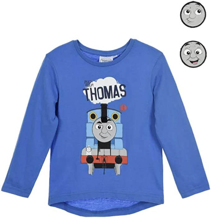 Thomas The Tank Boys Childrens Long Sleeve T Shirt with Badges