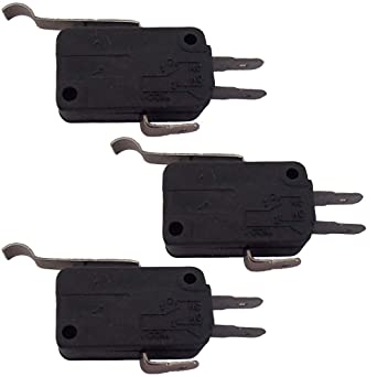 Amazon.com: 1014807 (3) Golf Cart 3 Prong Micro Switches for ... on club car batteries, club car potentiometers, club car enclosures, club car toggle switch, club car charger parts, club car solenoids, club car wiring harness, club car motors, club car battery chargers, club car forward reverse switch,