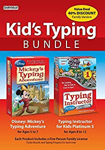 Kid's Typing Bundle: Mickey's Typing Adventure with Typing Instructor for Kids Platinum 5 [Amazon Exclusive]