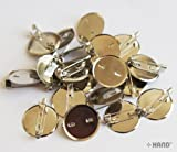 50 Pcs Round Backing/ Silver Plate with Badge Pins/ Name Badge Pins 25mmW