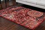 Feraghan Dusty red Salmon Traditional Antique Isfahan Wool Persian Area Rugs Rug 4023red 2'2 x 3 Door Mat Review