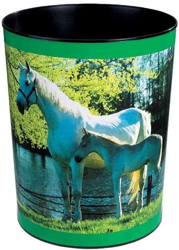 Läufer Motiv-Poster Papierkörbe Papierkorb 13 Liter, Ø 215/245x300 mm Pferd u. Fohlen am See