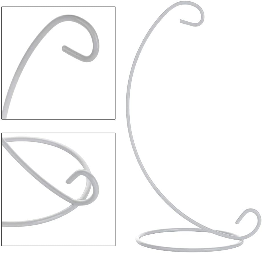RTWAY Ornament Display Stand White 6 Pack Iron Hanging Stand Rack Holder for Hanging Christmas Ornament Home Wedding Decoration
