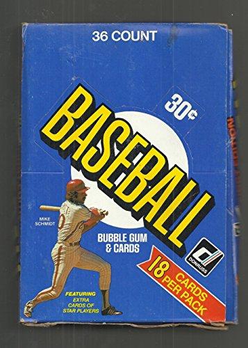 1981 DONRUSS BASEBALL 36 COUNT WAX BOX (1981 Donruss Card)