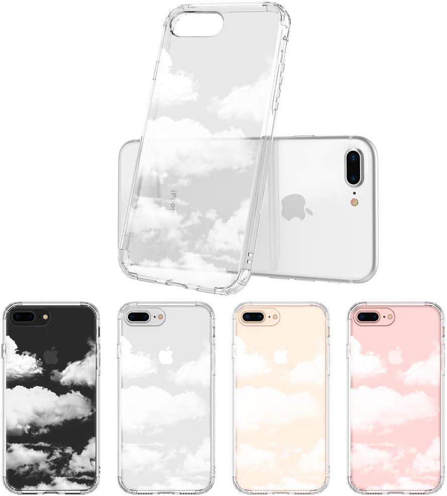 MOSNOVO iPhone 8 Plus Case, iPhone 7 Plus Clear Case, Cloud Pattern Printed Clear Design Transparent Plastic Back Case with TPU Bumper Protective Case ...
