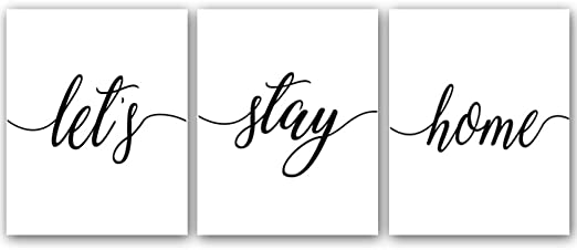 Gift motivational wall art 3 x  quote print set new home